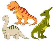 Geplaatste vector - dinosaurussen Stock Foto