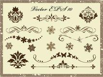 Geplaatste vector: kalligrafische ontwerpelementen en paginadecoratie Royalty-vrije Stock Fotografie