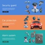 Geplaatste veiligheids Horizontale Banners Stock Afbeelding