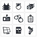 Geplaatste veiligheidspictogrammen Royalty-vrije Stock Fotografie