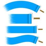 Geplaatste verfrollen - blauw Royalty-vrije Stock Foto