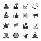 Geplaatste verkiezingenpictogrammen royalty-vrije illustratie