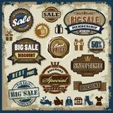 Geplaatste verkoopetiketten Stock Fotografie