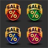 Geplaatste verkooppictogrammen Stock Foto