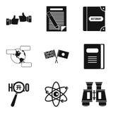 Geplaatste vertalerspictogrammen, eenvoudige stijl Royalty-vrije Stock Foto's