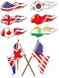 Geplaatste vlaggen Stock Afbeelding