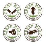 Geplaatste vleesetiketten royalty-vrije illustratie
