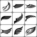 Geplaatste vleugels Stock Foto