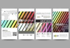 Geplaatste vliegers, moderne banners Bedrijfs malplaatjes Dekkingsmalplaatje, vectorlay-outs Stock Fotografie