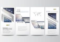 Geplaatste vliegers, moderne banners Bedrijfs malplaatjes Het malplaatje van het dekkingsontwerp, gemakkelijke editable, abstract Royalty-vrije Stock Foto