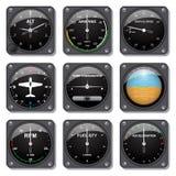 Geplaatste vliegtuigenmaten Stock Foto's