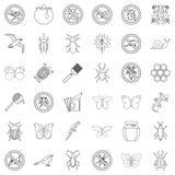 Geplaatste vlinder de pictogrammen, schetsen stijl vector illustratie