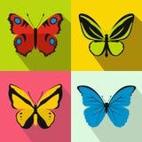 Geplaatste vlinderbanners, vlakke stijl Royalty-vrije Stock Afbeeldingen