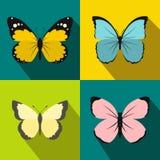 Geplaatste vlinderbanners, vlakke stijl Royalty-vrije Stock Afbeelding