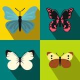 Geplaatste vlinderbanners, vlakke stijl Royalty-vrije Stock Foto