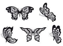 Geplaatste vlinders stock illustratie