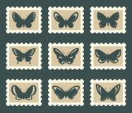 Geplaatste vlinders Stock Afbeeldingen
