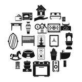 Geplaatste voederbakpictogrammen, eenvoudige stijl Royalty-vrije Stock Afbeelding