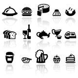 Geplaatste voedsel vectorpictogrammen EPS10 Stock Foto