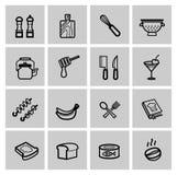Geplaatste voedselpictogrammen vector illustratie