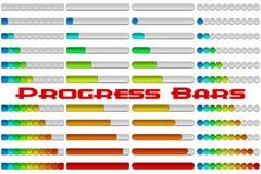 Geplaatste vooruitgangsbars Stock Afbeelding