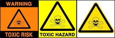 Geplaatste voorzichtigheid/waarschuwingsseinen, V Stock Fotografie