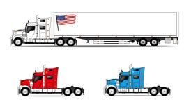 Geplaatste vrachtwagens royalty-vrije illustratie