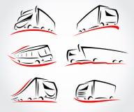 Geplaatste vrachtwagens Vector Stock Foto's