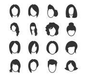 Geplaatste vrouwenpictogrammen Royalty-vrije Stock Foto