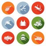 Geplaatste wapenspictogrammen Vector illustratie Royalty-vrije Stock Afbeelding
