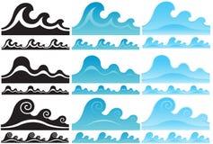 Geplaatste watergolven Stock Fotografie
