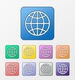 Geplaatste Webpictogrammen Royalty-vrije Stock Afbeelding