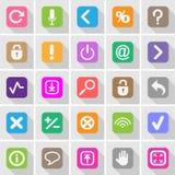 Geplaatste websiteknopen en symbolen Stock Afbeelding