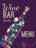 Geplaatste wijn vlakke pictogrammen Stock Fotografie