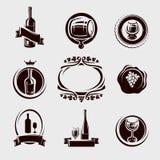 Geplaatste wijnetiketten. Vector Royalty-vrije Stock Fotografie