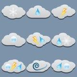 Geplaatste wolken stock illustratie