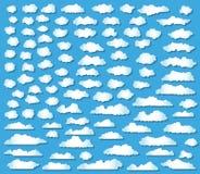 100 geplaatste wolken Stock Afbeelding