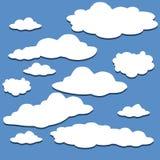 Geplaatste wolken Vectorachtergrond, Stock Afbeelding