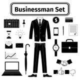 Geplaatste zakenmanpictogrammen Royalty-vrije Stock Afbeeldingen