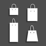 Geplaatste zakpictogrammen De pictogrammen van het Web Vector Stock Illustratie