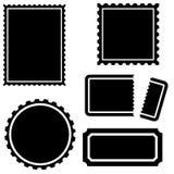 Geplaatste zegel - Zwarte Royalty-vrije Stock Foto's