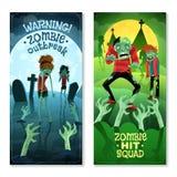 Geplaatste zombiebanners Royalty-vrije Stock Foto