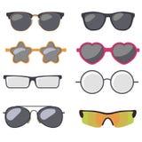 Geplaatste zonnebril, eyewear de Zomer, vector Stock Foto