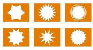 Geplaatste zonnestraal vectorkentekens, sterren royalty-vrije stock fotografie