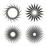Geplaatste zonvormen Stock Afbeelding