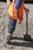 Geplakt in cement royalty-vrije stock afbeelding