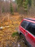 Geplakt SUV Royalty-vrije Stock Foto's