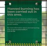 Gepland brandend waarschuwingsbord royalty-vrije stock foto