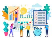 Geplande vergadering in het bureau, bedrijfsvennootschap stock illustratie
