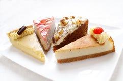 Geplateerde cakeselectie Royalty-vrije Stock Afbeelding